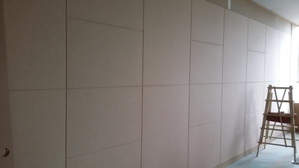 부산목수 인테리어 목공카페의 해운대 센텀시티 사무실 인테리어 페브릭작업