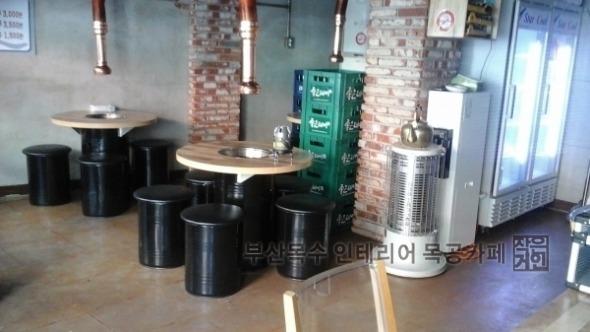 부산목수 인테리어 목공카페 온천장역 식당 마루깔기
