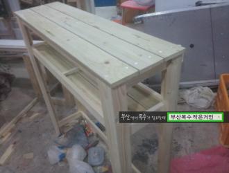 부산목수 인테리어 목공카페 부산이목수의 간단한 다육이 선반 테이블 만들기