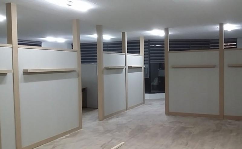 사무실인테리어 부산목수 사무실파티션 목공작업